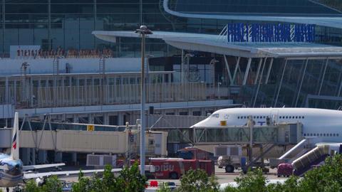 Rush hour in Phuket airport GIF