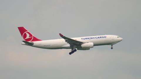 Airplane approaching before landing GIF