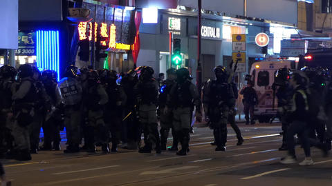 Hong Kong Protest Police - 02 Live Action