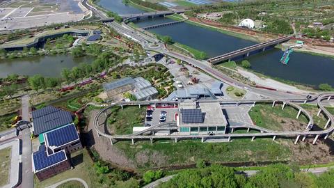 Aerial View of Suncheonman Bay National Garden, Suncheon, Jeonnam, South Korea Acción en vivo