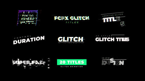 Glitch Titles Apple Motion Template