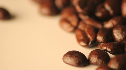 Rotating spilled coffee beans Footage