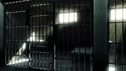 Prison cells. Looped animation Animation