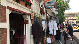 Shops in Portobello Road Notting Hill Gate London UK2 Footage