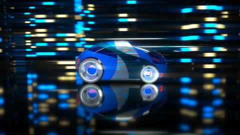 Car racing - 3D Animation Animation