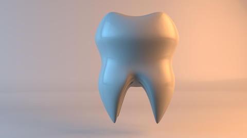 Conceptual tooth, stylised 3D animation; Conceptual tooth, stylised 3D animation Animation