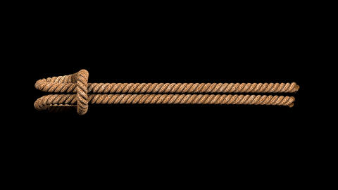 animated rope double KNOT with separate alpha channel Videos animados