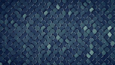 Rhombus pattern metallic surface 3D render loopable animation Animation