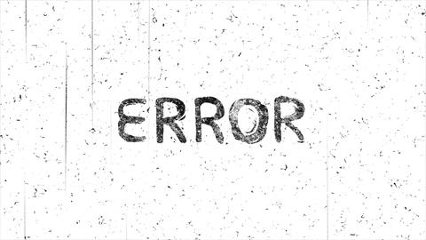 Error message with noise hand-drawn style animation seamless loop Animation