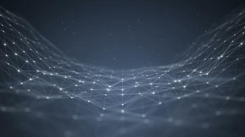 Glowing futuristic network abstract background seamless loop 3D render animation Animation