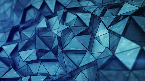 Layered blue glossy low poly mesh loopable 3D render animation Animation