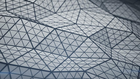 Distorted low poly shape seamless loop 3D render animation Animation