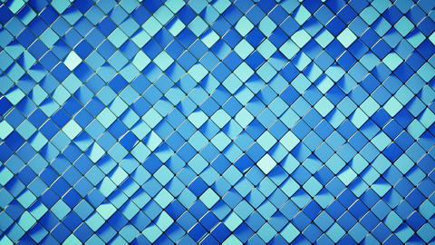 Blue rhombus pattern surface 3D render loopable animation Animation