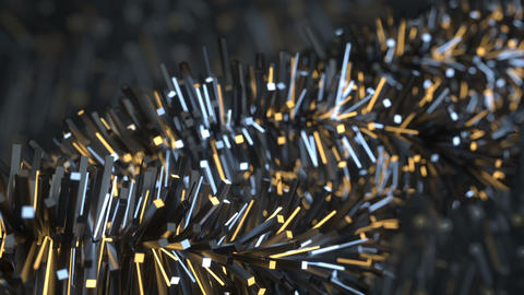 Futuristic stylized prickly shape is rotating seamless loop 3D render animation Animation