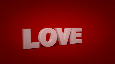 White love text on red background is shattering 3D render animation Animation