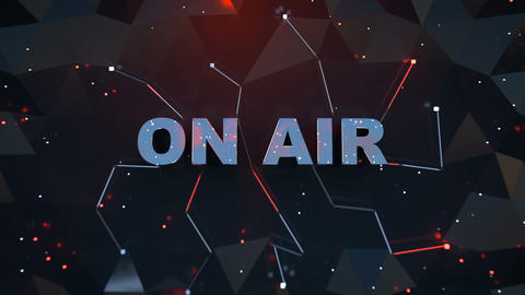 ON AIR sign seamless loop 3D render animation Animation
