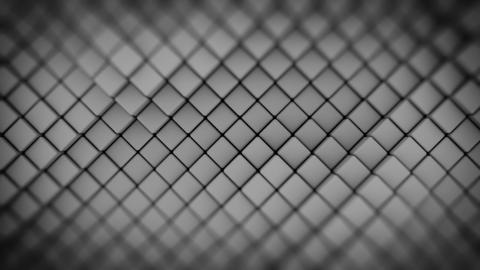 Wall of gray rhombus shapes abstract seamless loop 3D render animation Animation
