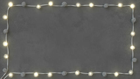 Rotang string lights on concrete background seamless loop 3D render animation Animation