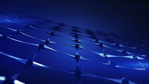 Nanotechnology blue structure 3D render loopable animation Animation