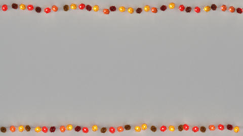 Red rotang string lights and free space seamless loop 3D render animation Animation