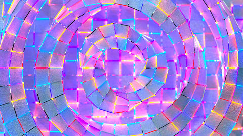 Colorful disco glitters and neon lights seamless loop 3D render animation Animation