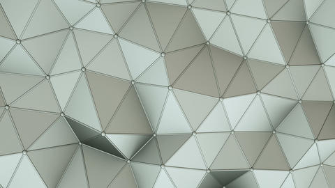 Distorted low poly construction with lines on edges loopable 3D render animation Animation