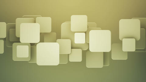 Overlapping yellow squares 3D render loopable background Animation