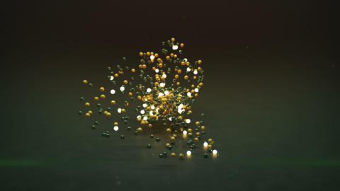 Bunch of glowing spheres seamless loop 3D render animation Animation
