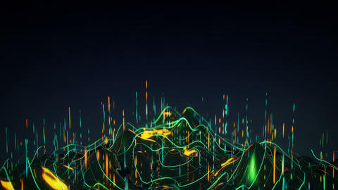Futuristic concept of analysis big data flow seamless loop 3D render animation Animation