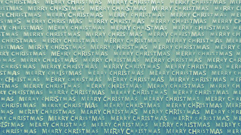 Pattern of embossed text merry christmas seamless loop 3D render animation Animation
