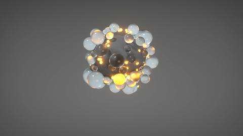 Floating group of spheres 3D render animation Animation