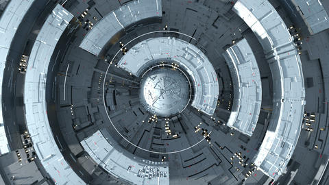 Gray futuristic circular shape seamless loop 3D render animation Animation