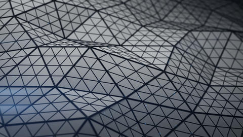 Triangulated shape with subdivided polygons loopable 3D render Animation