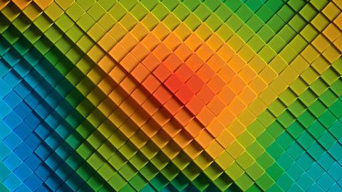Rainbow colorful rhombus 3D render seamless loop animation Animation