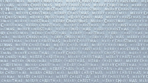 Merry christmas white text pattern seamless loop 3D render animation Animation