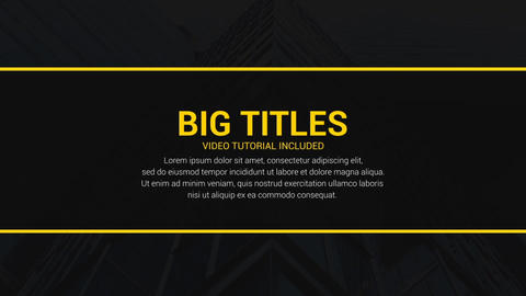 Dynamic Big Titles After Effects Template