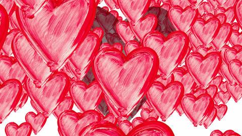 Rain of hearts - falling hearts Animation