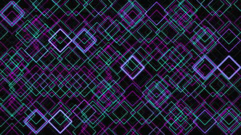 Abstract Digital Grid Geometric Pattern Motion Backdrop Animation