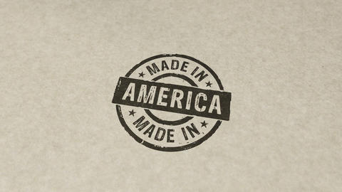 Made in America stamp and stamping animation Animation
