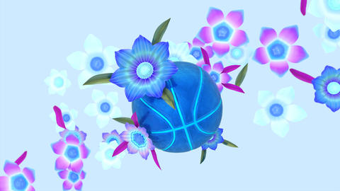 Abstract background motion design of basketball Animation
