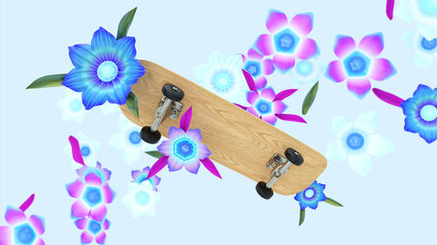 Abstract background motion design of skateboarding Animation