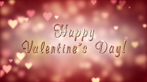 Happy Valentine's Day. Glamor Valentine's card Animation