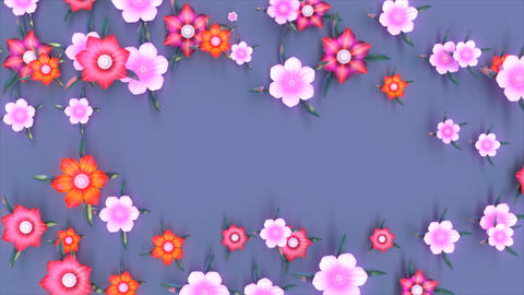 Abstract background motion design of flowers Animation