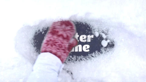 SNOW LOGO REVEAL After Effects Template