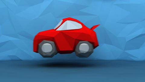 Paper transportation, man car plane and rocket - 4K digital animation Animation