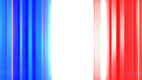 French flag of vertical lines seamless loop 3D render animation Animation