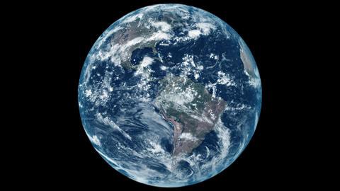 Earth360° 4K loop (flat lighting) Animation
