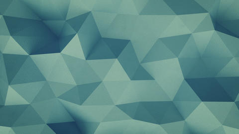 Grained blue-green polygonal structure seamless loop 3D render animation Animation
