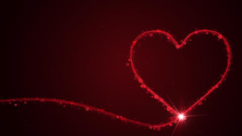 Valentines day concept animation on red Animation