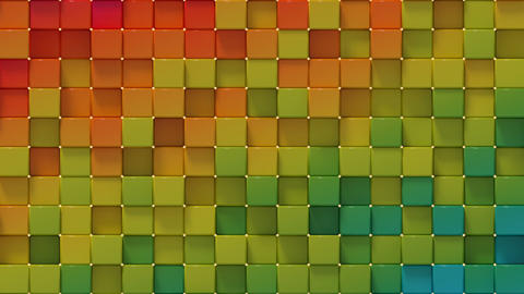 Bright colorful spectrum blocks seamless loop 3D render animation Animation